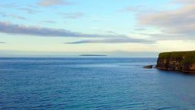海岛薄雾 库存照片