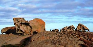 海岛袋鼠卓越的岩石 免版税库存照片