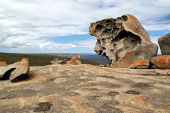 海岛袋鼠卓越的岩石 库存照片