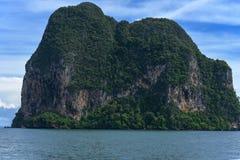 海岛视图在安达曼海,董里府,泰国 库存图片