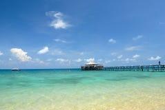 海岛跳船tioman的马来西亚 免版税库存图片