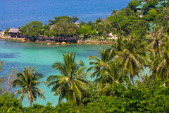 海岛酸值Phangan,泰国。 库存照片