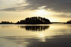 海岛镜子 库存图片