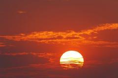 海岛长的日出 图库摄影