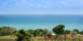 海岛顶视图  库存照片