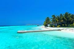 海岛马尔代夫 免版税库存图片
