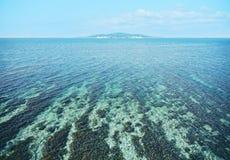 海岛马尔代夫欢迎的海洋天堂 库存照片