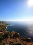海岛马德拉岛风景视图 库存照片