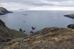 海岛马德拉岛, Ponta de圣洛伦索, Canical镇,半岛,干旱气候的最东部部分 免版税图库摄影