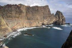 海岛马德拉岛, Ponta de圣洛伦索, Canical镇,半岛,干旱气候的最东部部分 图库摄影
