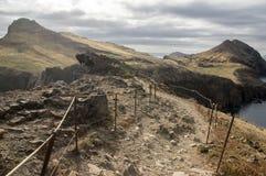 海岛马德拉岛, Ponta de圣洛伦索, Canical镇,半岛,干旱气候的最东部部分 免版税库存图片