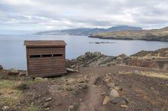 海岛马德拉岛, Ponta de圣洛伦索, Canical镇,半岛,干旱气候的最东部部分 免版税库存照片
