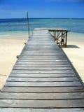 海岛马来西亚码头sipadan的沙巴 库存图片