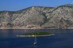 海岛,克罗地亚 免版税库存图片