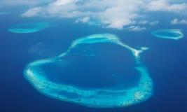 海岛 从飞机的视图 某处在天堂 免版税图库摄影