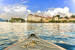 海岛Bella Maggiore湖 库存照片