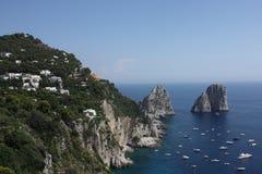 海岛Capri 免版税库存照片
