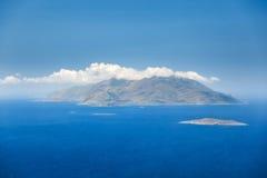 海岛Chalki Lindos 希腊 免版税库存图片