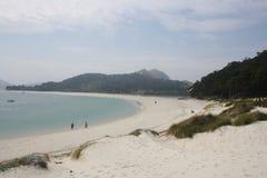 海岛Cies在比戈,西班牙 库存照片