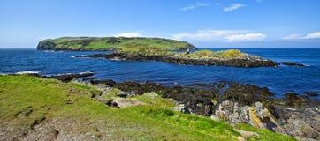 海岛Cregneash 库存照片