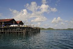 海岛kelong sibu 库存图片