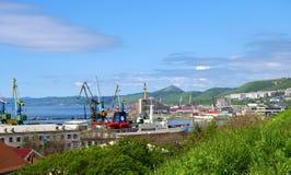 海岛kholmsk萨哈林岛城镇 库存照片