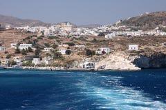 海岛kimolos海运视图 库存图片