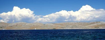 海岛kornati视图 库存图片