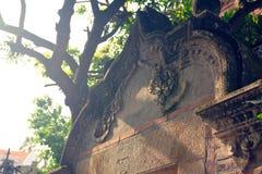 海岛Kulangsu的美好的石雕刻的这角落 免版税图库摄影