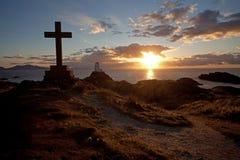 海岛llandwyn 图库摄影