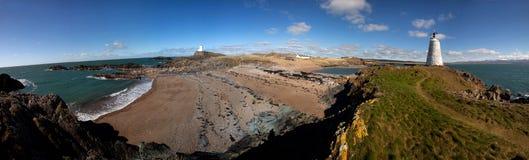 海岛llandwyn 库存图片