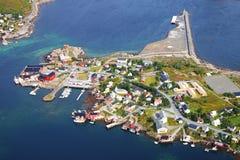 海岛lofoten挪威 库存图片