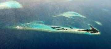 海岛maldivian天堂 免版税库存照片