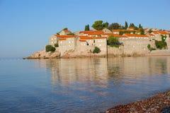 海岛montenegro被发送的stefan 图库摄影