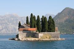海岛montenegro 免版税库存照片