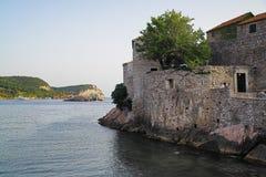 海岛montenegro st stefan 免版税库存照片