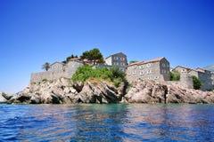 海岛montenegro stefan sveti 图库摄影
