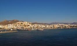 海岛naxos端口 免版税库存图片