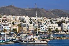 海岛naxos端口 库存照片