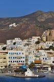 海岛naxos端口 库存图片
