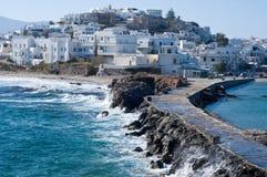 海岛naxos 库存照片