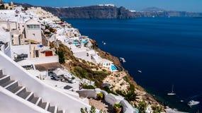 海岛oia santorini 希腊 免版税库存图片