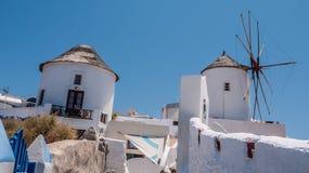 海岛oia santorini 希腊 库存照片