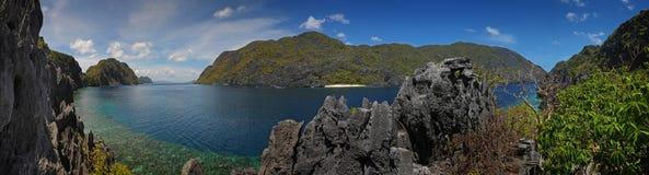 海岛palawan panoramatic 库存图片