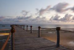 海岛pemba码头 免版税图库摄影