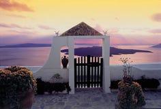 海岛santorini 库存照片
