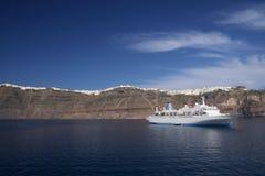 海岛santorni 免版税库存图片