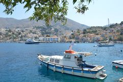 海岛Simy在希腊 免版税库存图片