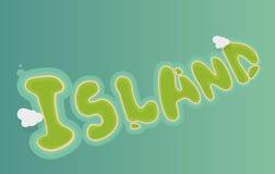 海岛typhography 免版税图库摄影