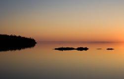 海岛Valaam的本质在Ladoga湖 免版税库存照片